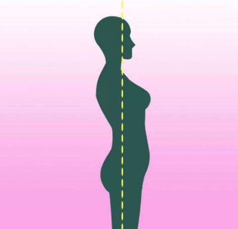 mantener la espalda recta