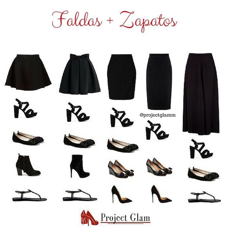 Zapatos para cada tipo de faldas