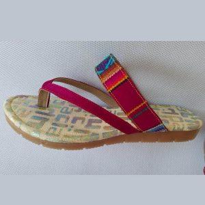 sandalia peruana roja